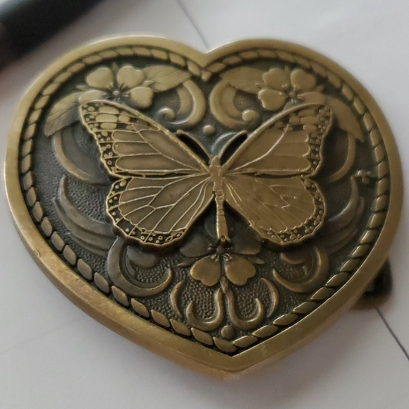 Butterfly Belt Buckle Brass